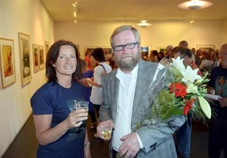 Kunstutstilling i samarbeid med Surnadal Kunstforening, her med Håkon Gullvåg